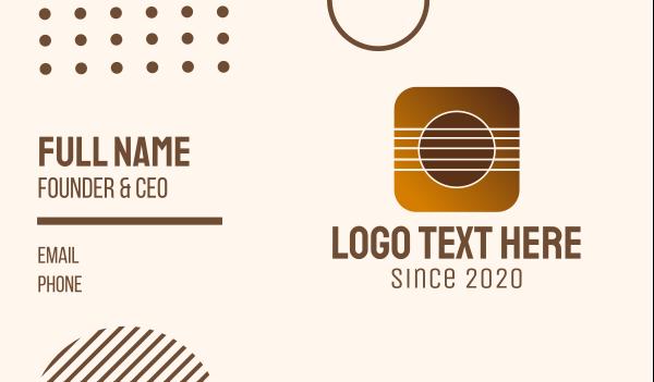viola - Music Strings Mobile Application Business card horizontal design