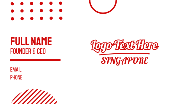 sg - Singapore Business card horizontal design