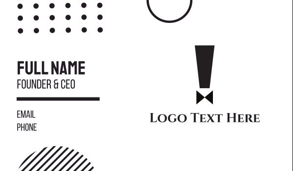 bachelor - Exclamation Suit Business card horizontal design