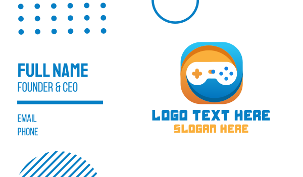 toy store - Gaming App Business card horizontal design