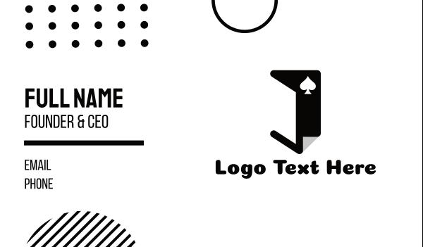 room - Poker Jack  Business card horizontal design