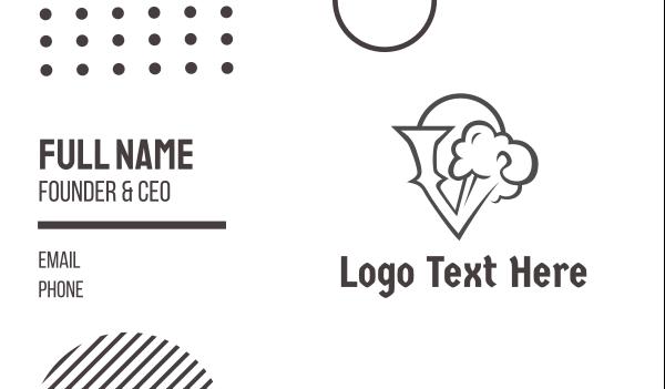steam - Black Cloud V Business card horizontal design