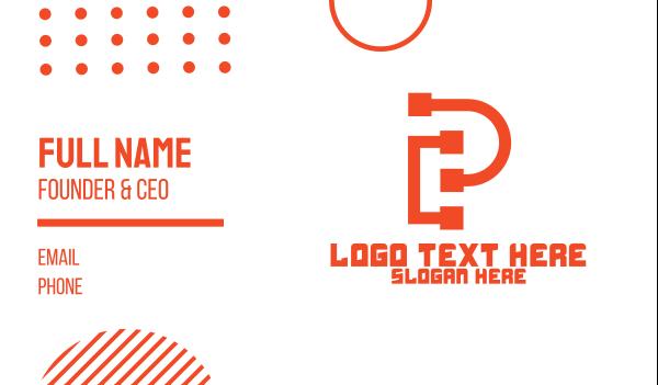 pipeline - Pipeline Letter P Business card horizontal design