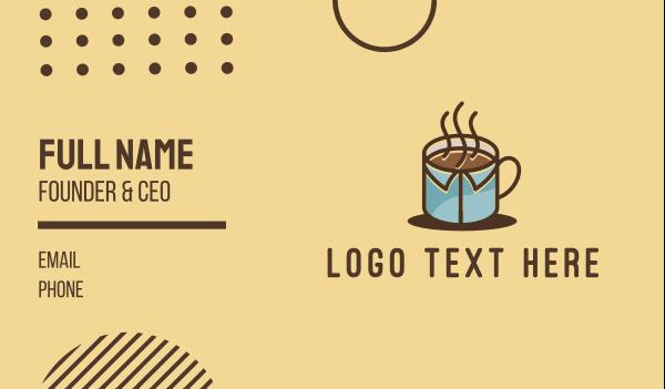 work from home - Office Mug Coffee Business card horizontal design