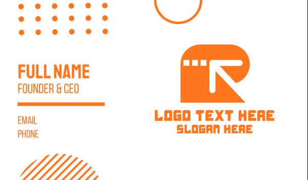 travel agent - Arrow Letter R Business card horizontal design