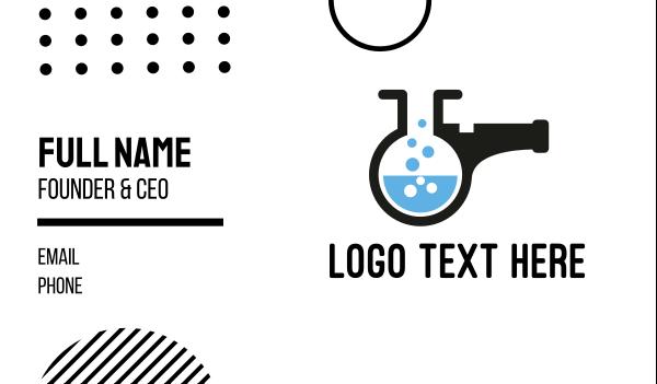 chromatography - Lab Whistle Business card horizontal design