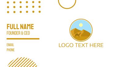 Camel Desert Badge Business Card