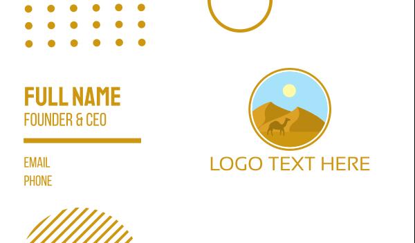camel - Camel Desert Badge Business card horizontal design
