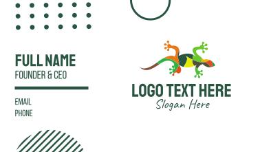 Gecko Mosaic Business Card