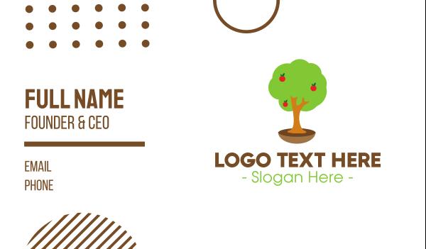 organic fruit - Apple Tree Business card horizontal design
