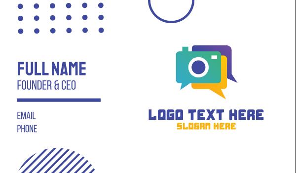 webcam - Colorful Camera Chat Business card horizontal design