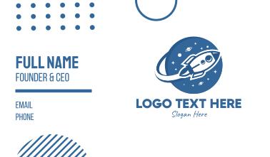 Blue Rocket Space Exploration Business Card