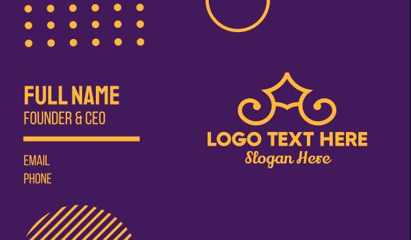 highness - Golden Elegant Crown Business card horizontal design