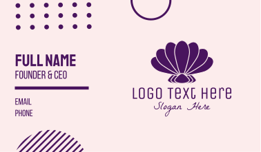 Purple Beauty Shell Business Card