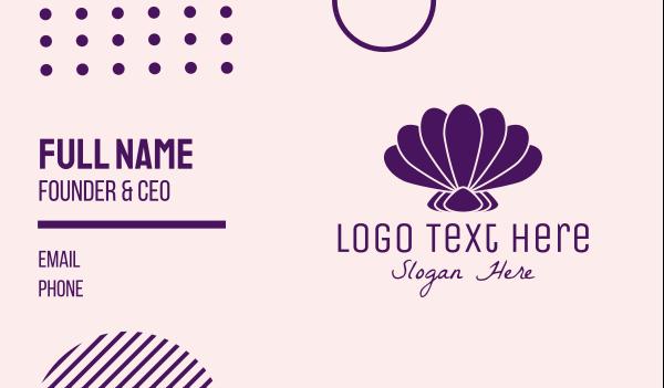 shell - Purple Beauty Shell Business card horizontal design