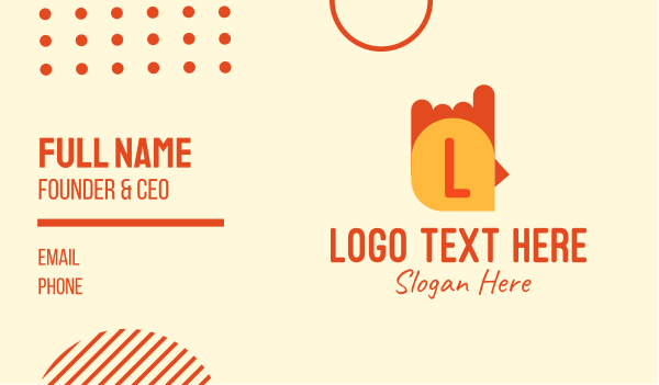 chicken restaurant - Simple Orange Chicken Lettermark Business card horizontal design