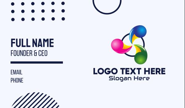 element - Abstract Spiral Business Business card horizontal design