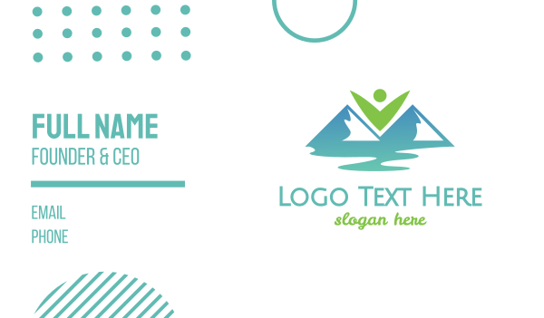 travel blogger - Eco Valley Mountains Business card horizontal design