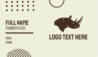 Brown Rhino Business Card