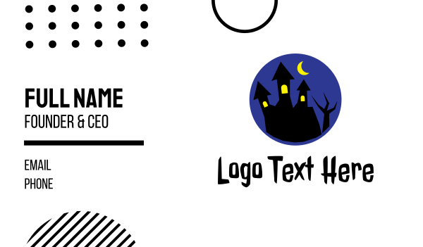 midnight - Spooky House Business card horizontal design