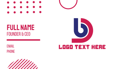 Monogram BD Tech Business Card