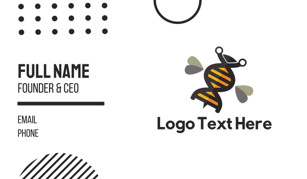 gene - Genetic Bee Business card horizontal design