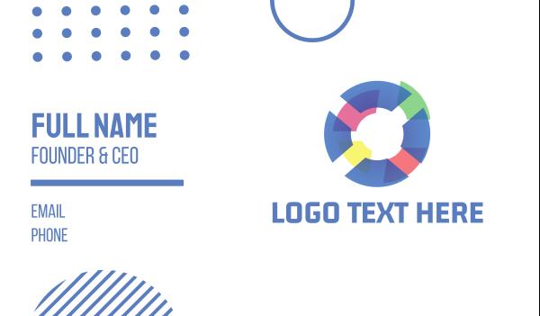 custom - Tech Pastel Circle Business card horizontal design