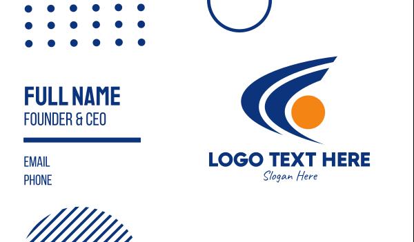 sporty - Speed Ball Sports   Business card horizontal design