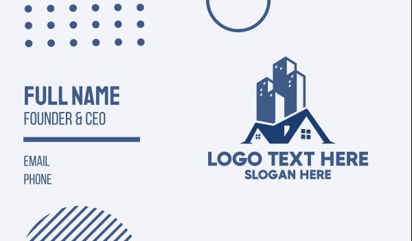 agent - Blue City Home  Business card horizontal design