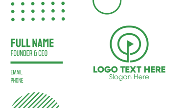 Green Round Golf Course Business Card
