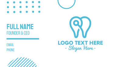 Modern Tooth Outline Business Card