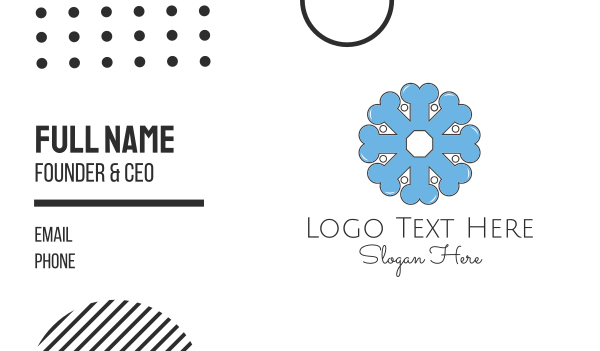 bone - Bone Flower Business card horizontal design