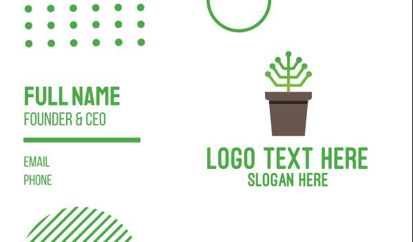 pot plant - Digital Plant Business card horizontal design