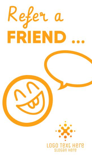 Refer a friend Facebook story