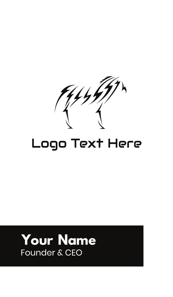 Lightning Zebra Business Card