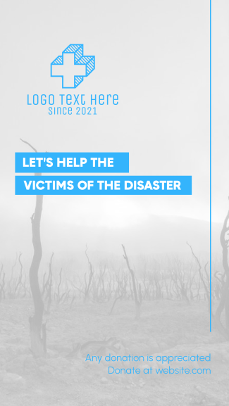 Help Disaster Victims Facebook story