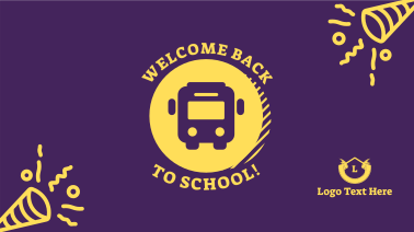 Welcome Back School Bus Facebook event cover