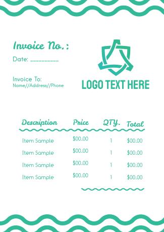 Wavy Lines Invoice
