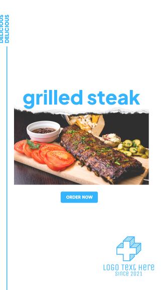 Grilled Steak Facebook story