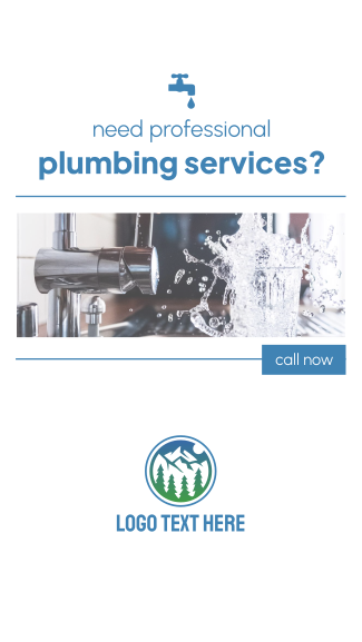 Professional Plumbing Services Facebook story