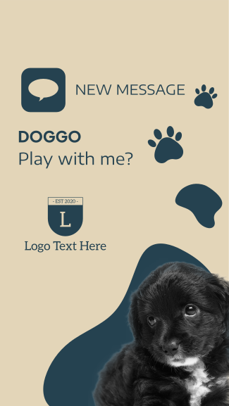 Dog New Message Facebook story