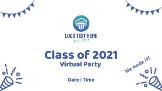 Graduation Party Invitation Facebook event cover