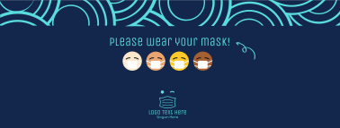 Mask Emoji Facebook cover