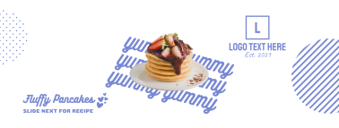 Yummy Fluffy Pancakes Facebook cover