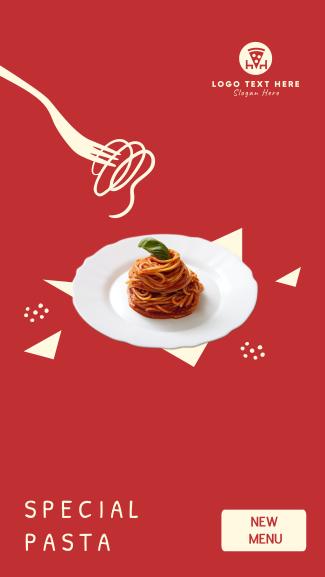 New Pasta Menu  Facebook story