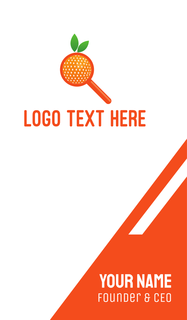 Orange Search Business Card