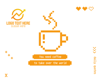 Coffee Pixel Quote Facebook post