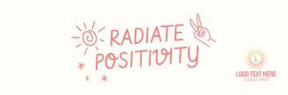 Radiate Positivity Twitter header (cover)