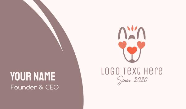 hare - Animal Love Business card horizontal design
