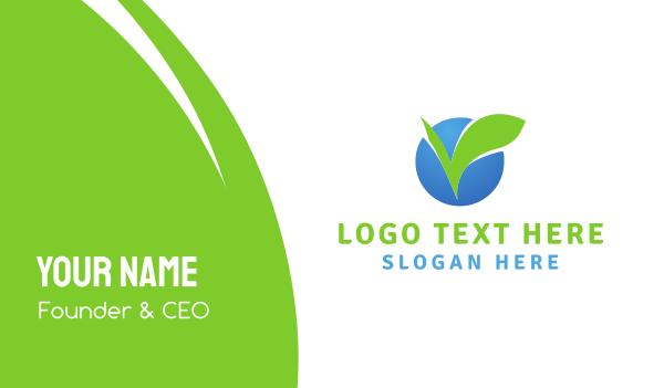 Leaf Circle Business Card